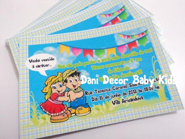 Convite De Aniversário Festa Junina Loja De Danidecorbaby